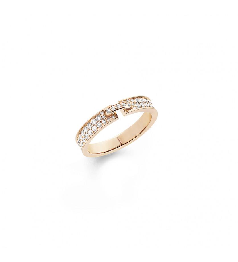 Alliance Liens Evidence or rose entierement pavée diamants