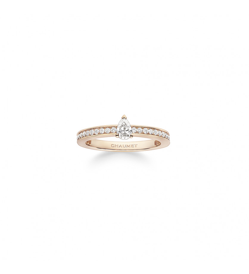 Bague Joséphine Eclat d'Eternité or rose pavée diamants