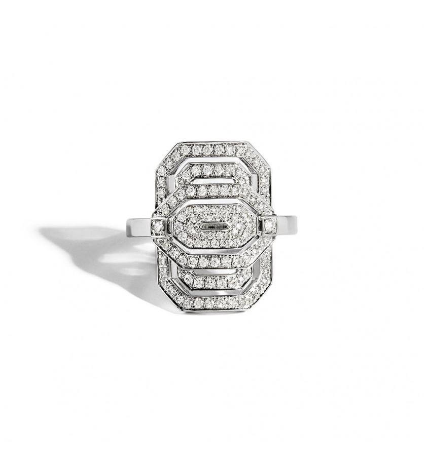 Bague mini My Way argent diamants