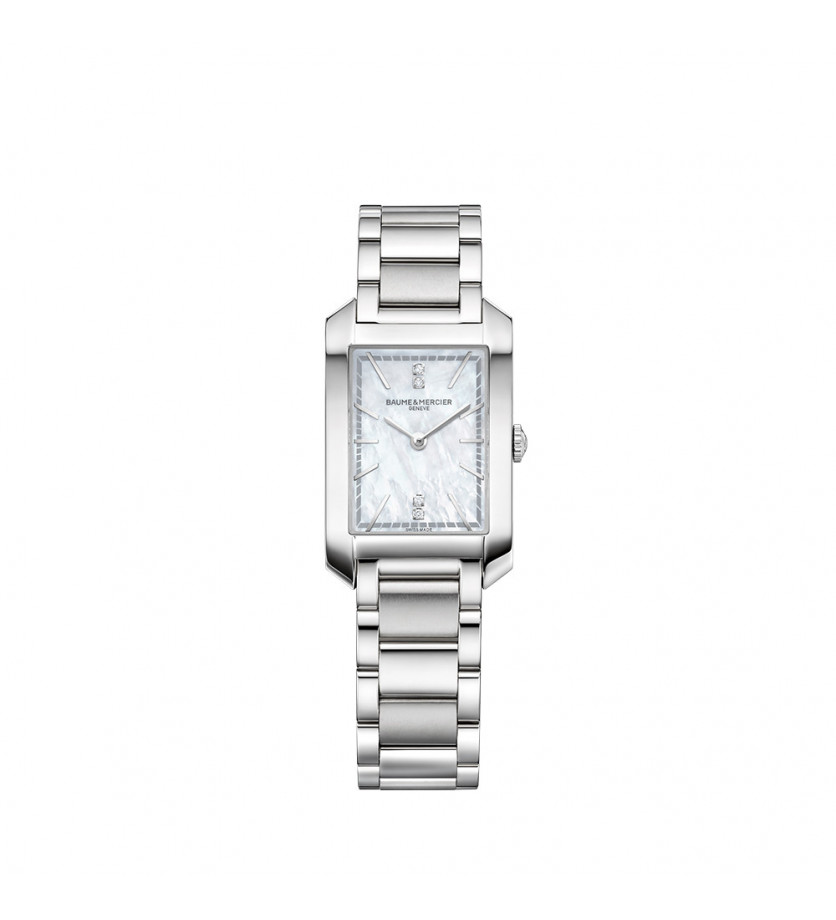Montre Hampton 10474 Quartz Cadran Nacre Blanche Diamants