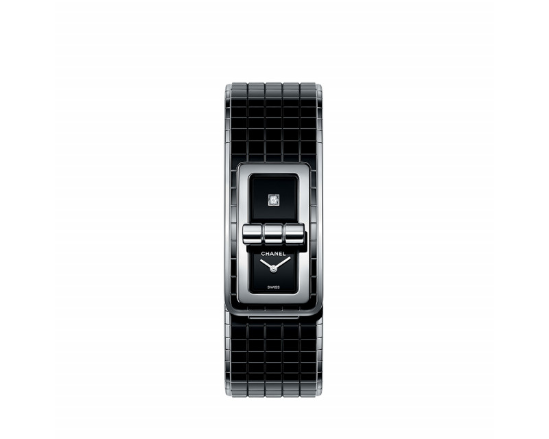 Montre Code Coco 38mm Quartz Acier Céramique Noir Diamant