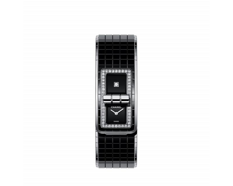 Montre Code Coco 38mm Quartz Acier Céramique Noire