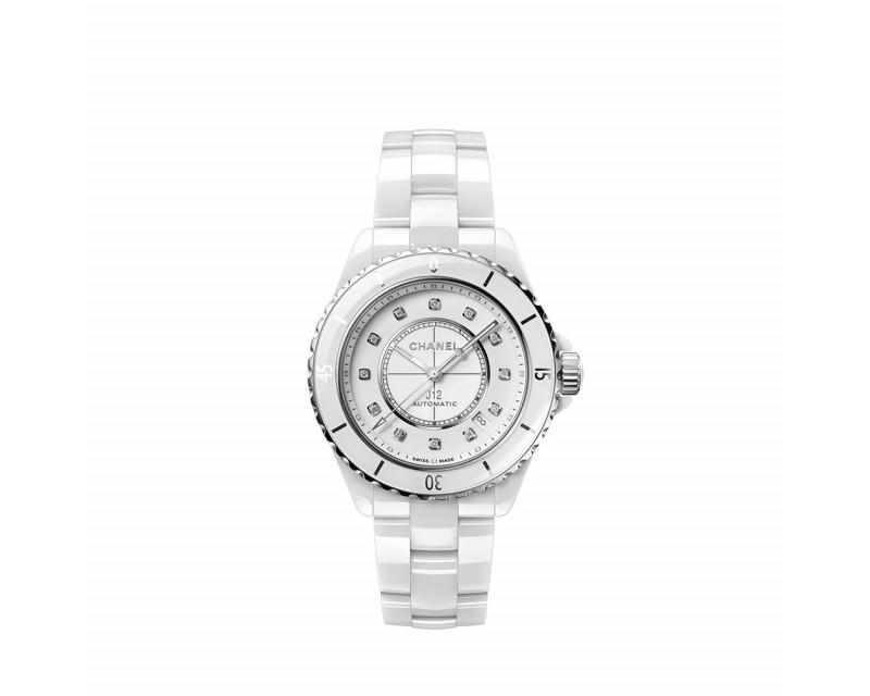 Montre J12 Calibre 12.1 Automatique Céramique Blanche Diamants