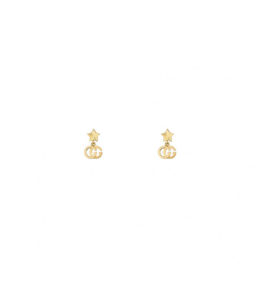 Boucles d'oreille Running G or jaune avec étoile