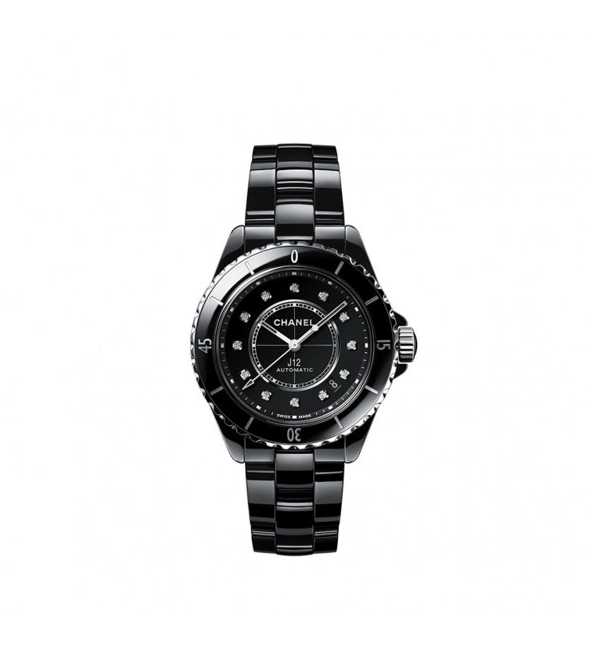 Montre J12 Calibre 12.1 38mm Automatique Céramique Noire Diamants