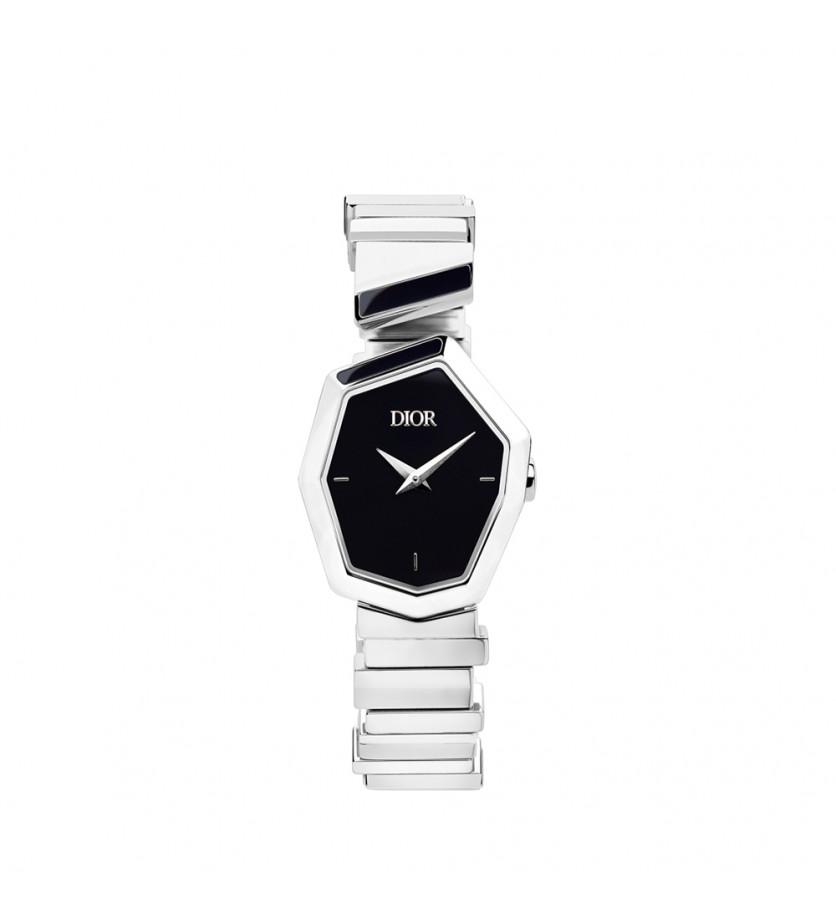 Montre Gem Dior 27mm Quartz Acier Cadran Nacre Noir