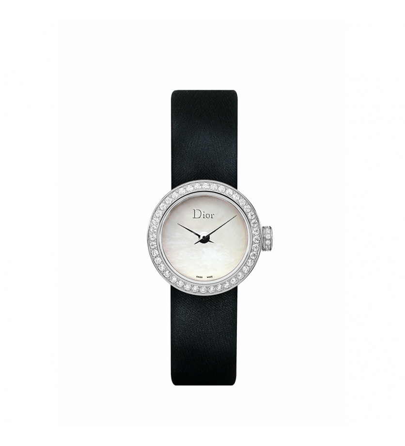 Montre Mini D de Dior 19mm Cadran Nacre Sertie Diamants