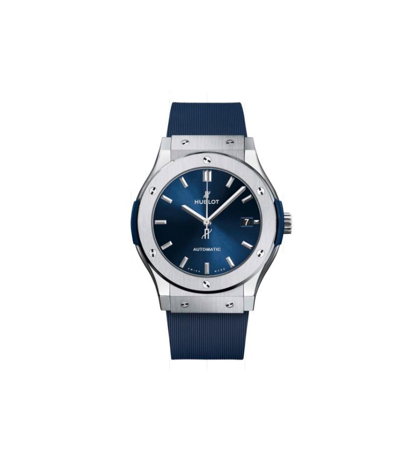Montre Classic Fusion Titanium Blue 45 mm
