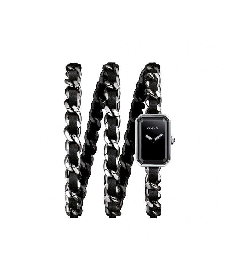 Montre Première Rock 26mm Quartz Acier Cadran Noir Bracelet Triple